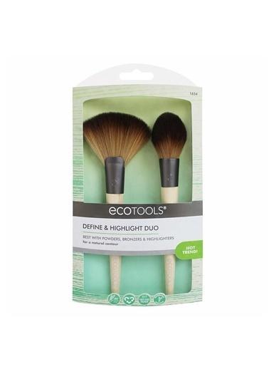 Eco Tools Define&Highlight Duo Makyaj Fırça Seti Renksiz